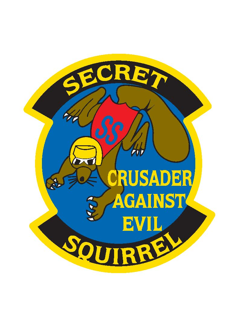 """Secret Squirrel"" mission patch created by the men who took part in the historic mission. The mission marked the first combat launch of the AGM-86C, Conventional Air Launched Cruise Missile, a GPS guided munition. (Courtesy Graphic)"