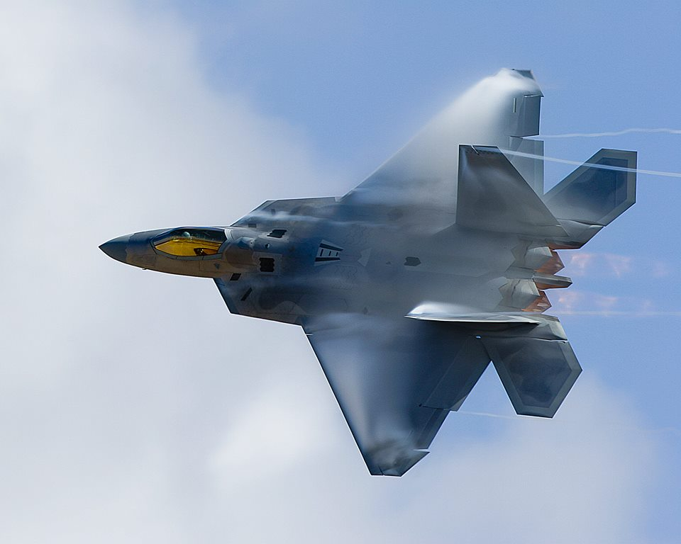 The radar absorbing coating, that hides the Raptor from radars, warped and started to peel off. The U.S. Air Force