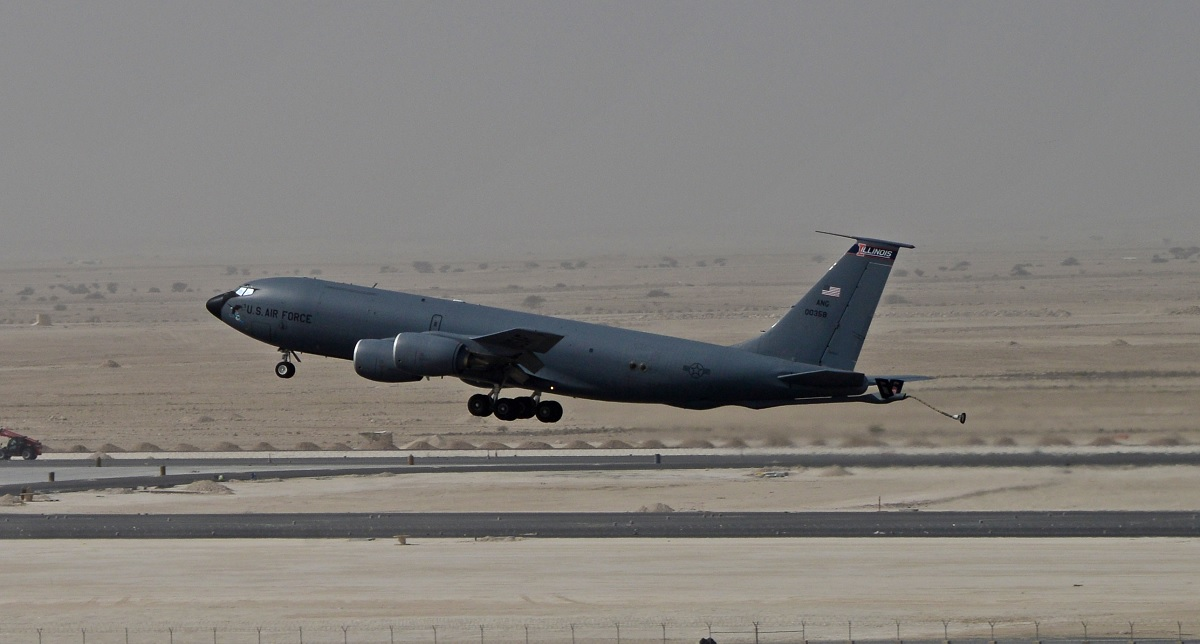 """USAF says laser weapon integration on KC-135 is """"still in the infancy stage"""""""