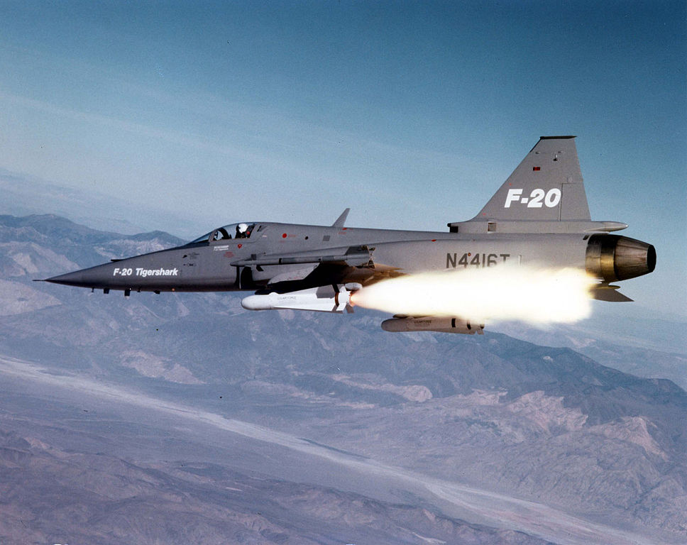 A quick look at how you could fly and fight in the F-20 Tigershark, the super light-fighter that never was
