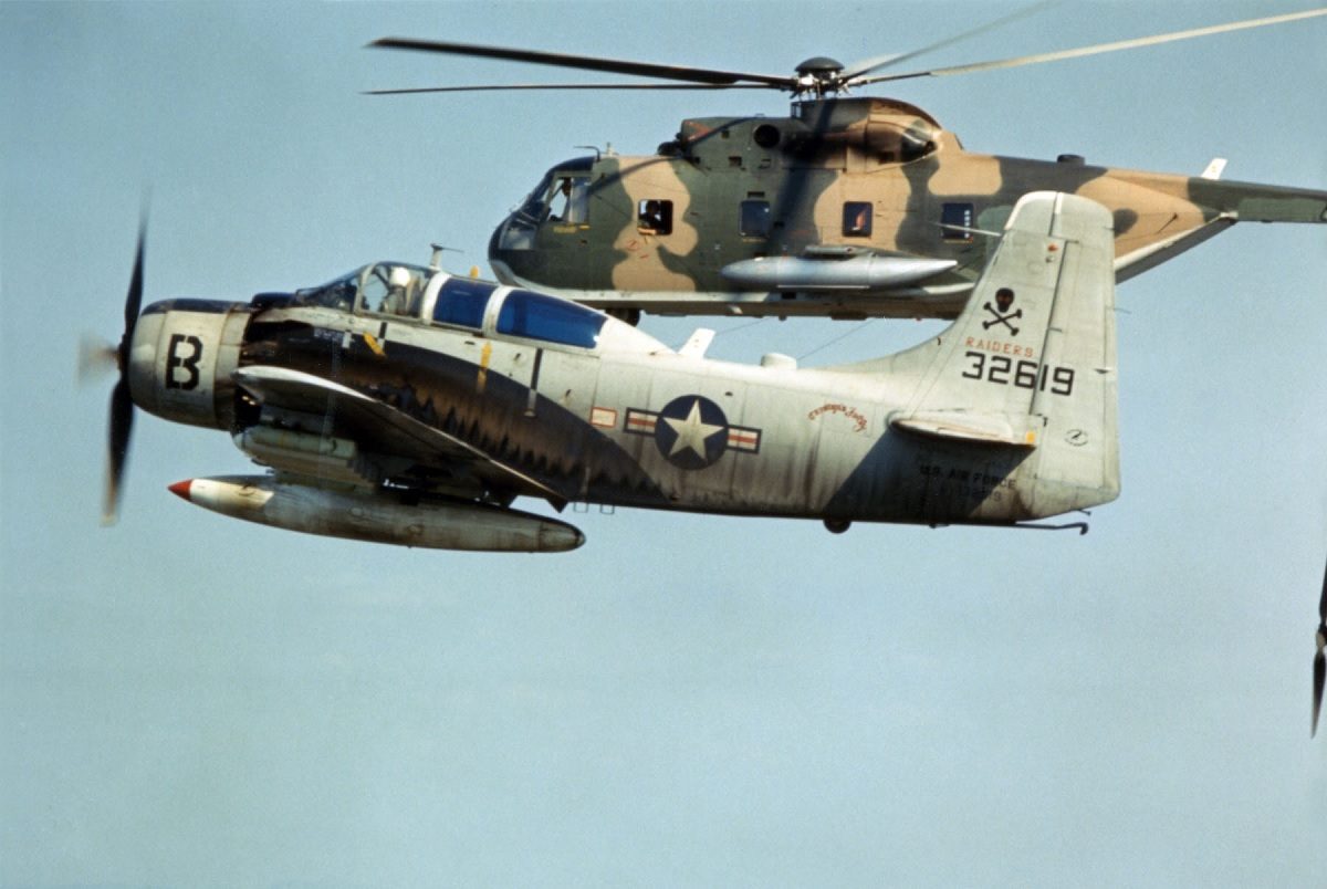 Sandy! How two A-1 Skyraiders provided top Cover for a CSAR Mission to save a Downed OH-6 Crew During the Vietnam War