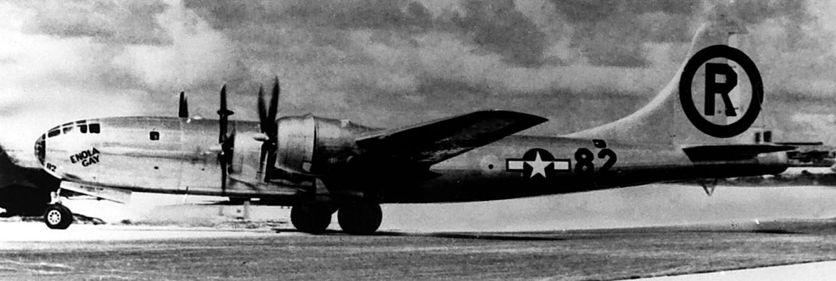 Enola Gay after Hiroshima mission.