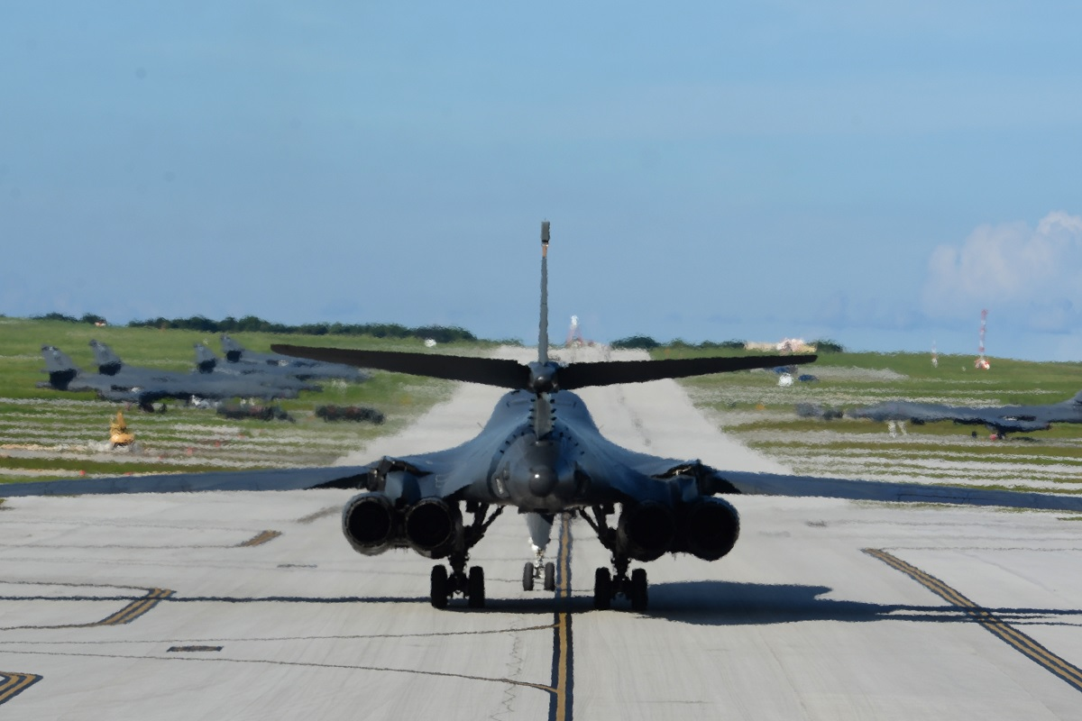 Ellsworth B-1Bs deployed at Andersen AFB