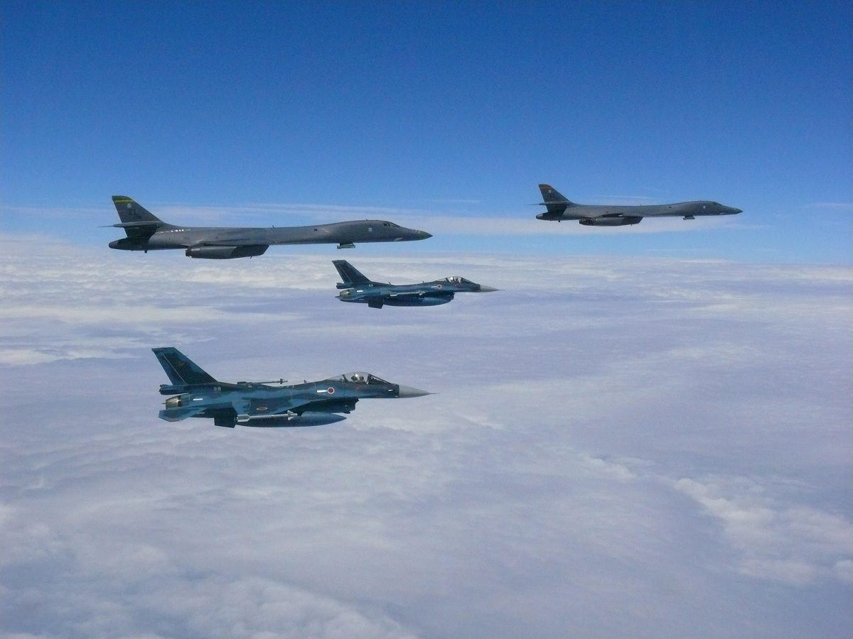 Ellsworth B-1Bs train with JASDF and ROKAF fighters