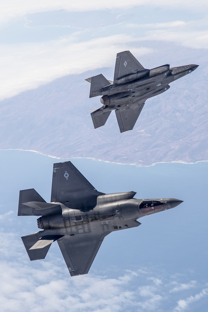 F-35s during a recent Weapons Delivery Accuracy testing surge