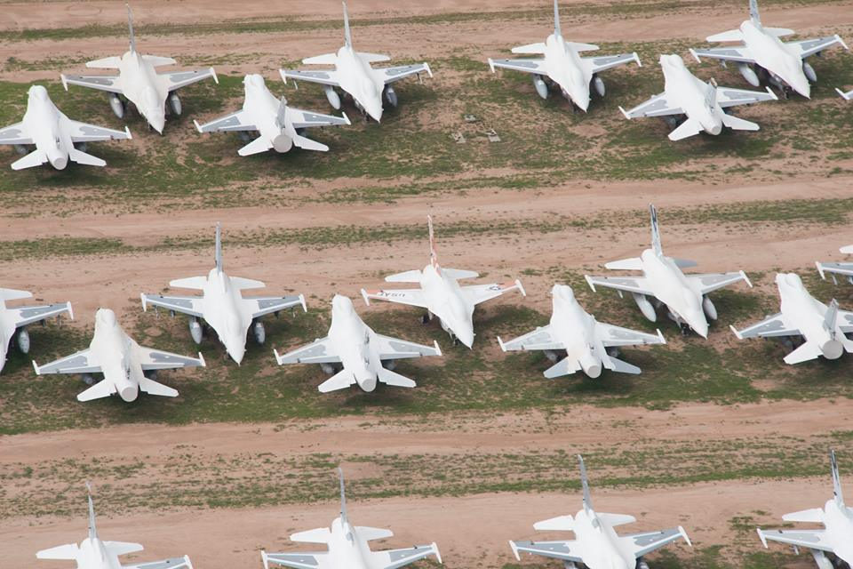 F-16s stored at AMARG