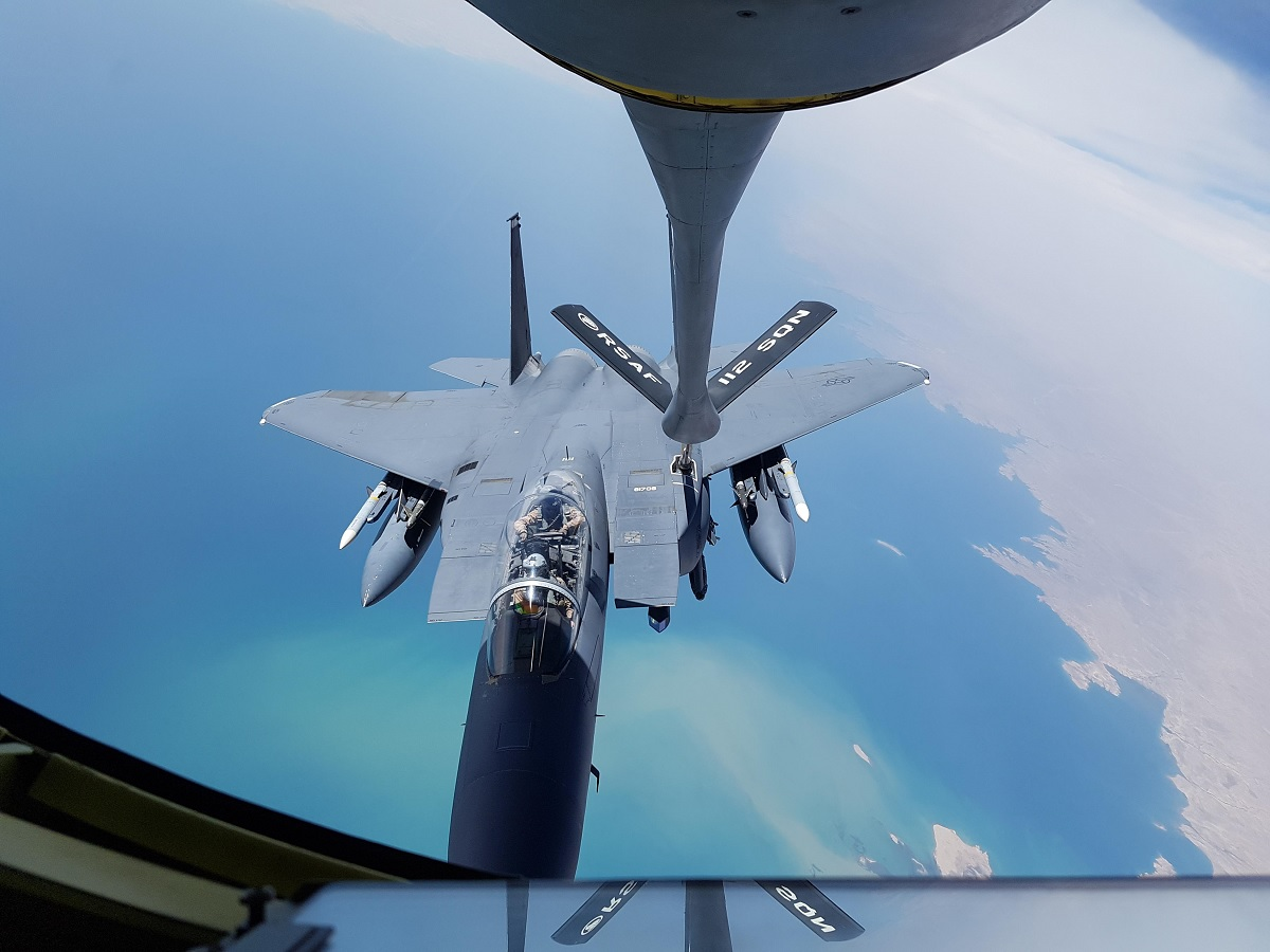 RSAF KC-135R Completes three-month deployment in support of OIR