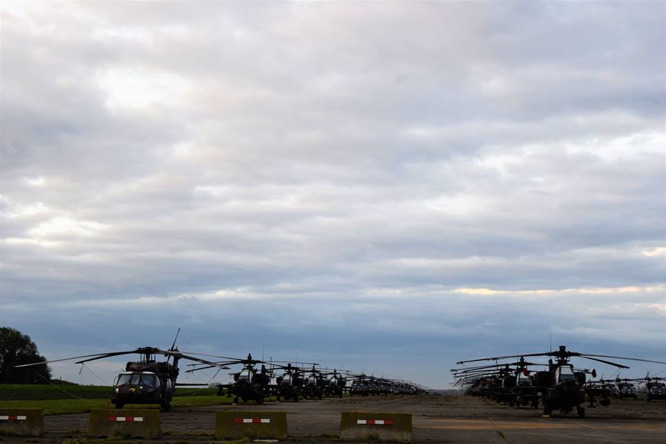 Incredible photos show 1ST Air Cavalry Brigade helicopters ready to deploy in Germany