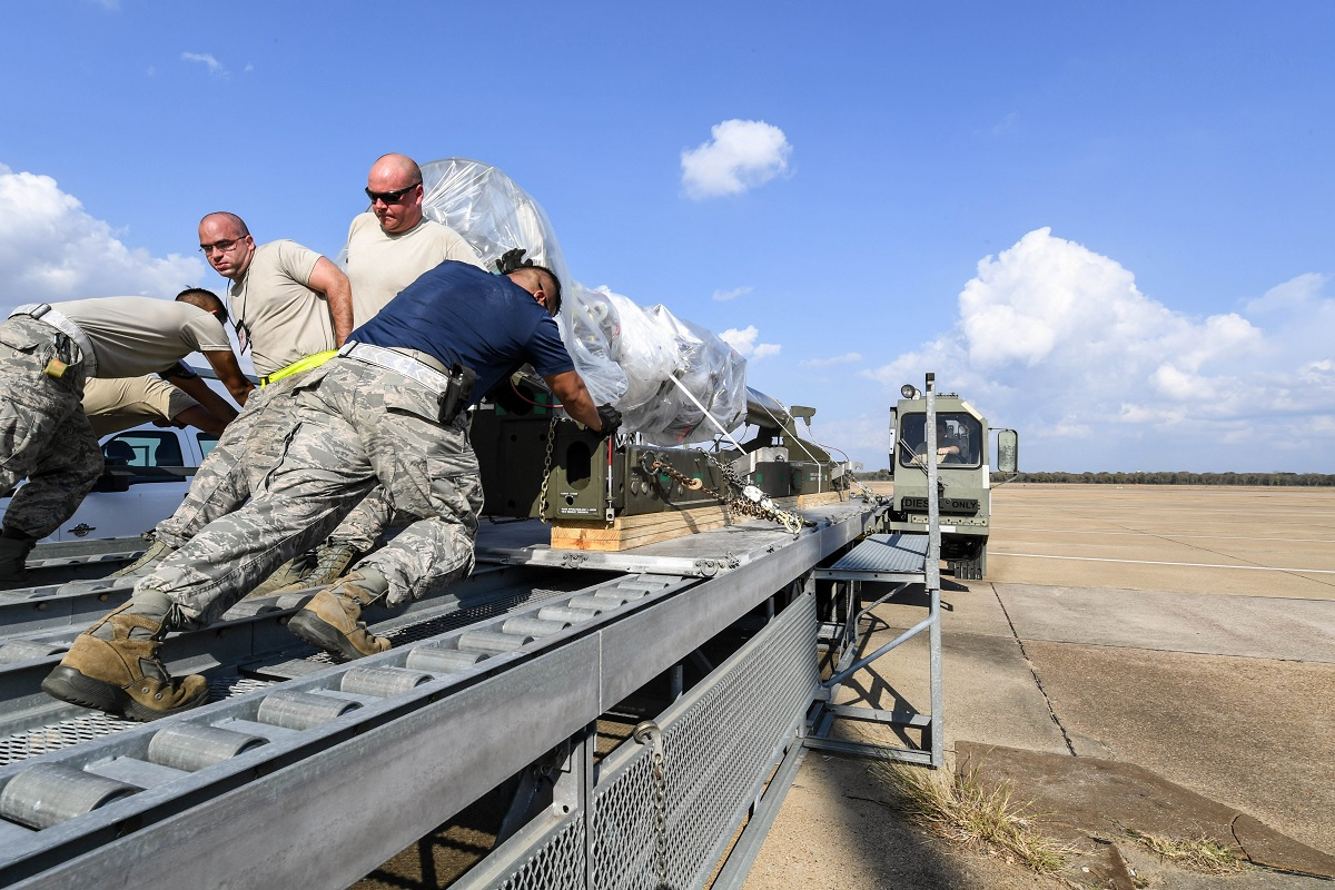 First B-52H coventional rotary launcher has arrived at Barksdale. And it's ready for combat.