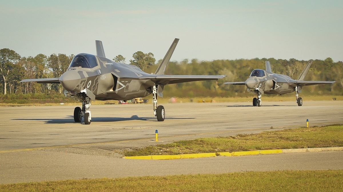 VMFAT-501 F-35Bs (sporting British roundels) train with ATAC Kfirs