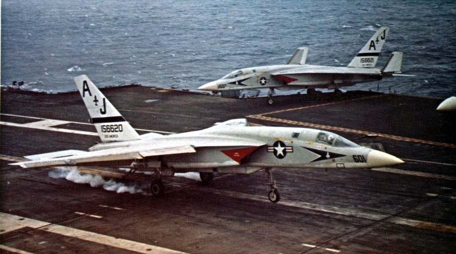 That time an RA-5C Vigilante took a picture of a SA-2 surface to air missile passing just 104 feet from its belly