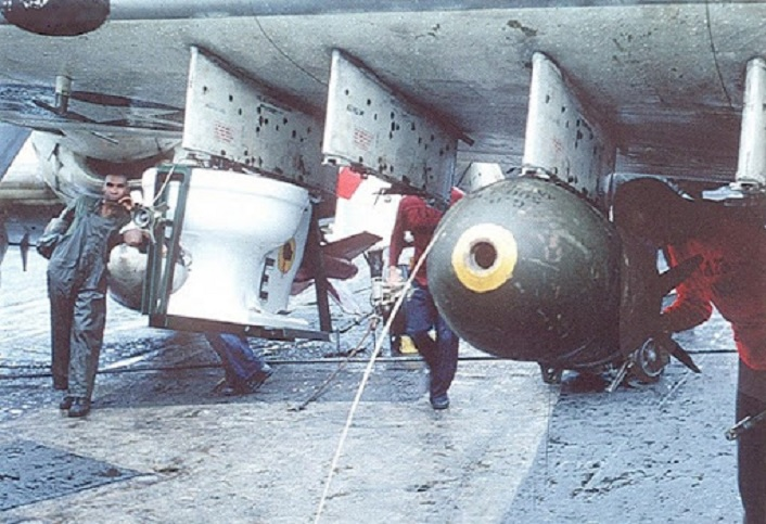 """That time a U.S. Navy A-1H Skyraider dropped a """"toilet bomb"""""""