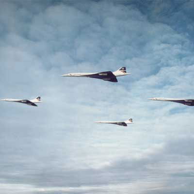 That time four British Airways Concordesupersonic airliners flew in formation on Christmas Eve
