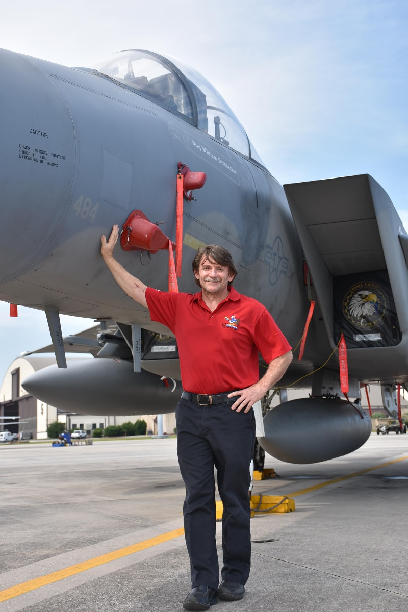 """The story of """"Patches,"""" the rebuilt F-15C that honors a fallen Airman"""