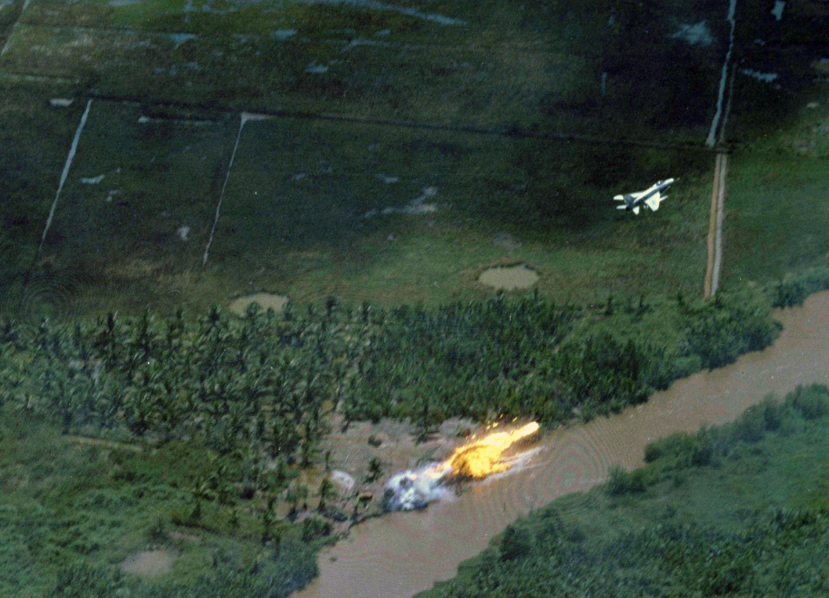 When the Hun went Downtown: the story of F-100's only attack on North Vietnamese defenses