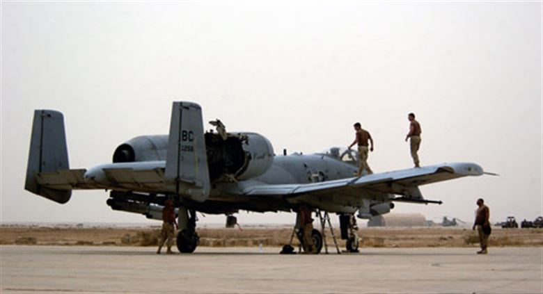 How this A-10 was able to RTB after her right engine had been struck by an Iraqi SAM [today the aircraft's damaged cowling is on display at the National Guard Museum]
