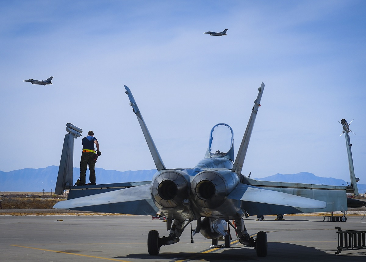 RCAF CF-18s recently conducted DACT engagement against Holloman's F-16s