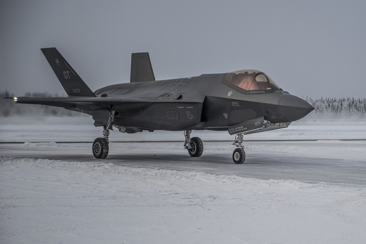 All three F-35 variants conducted cold weather testing at Eielson AFB