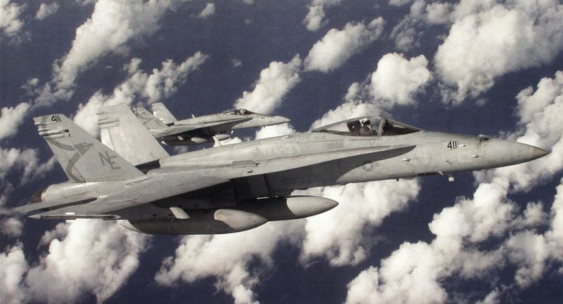 That time a U.S. Navy F/A-18 Hornet performed a high-speed flyby that dispersed a riot and... Wowed an Iraqi child