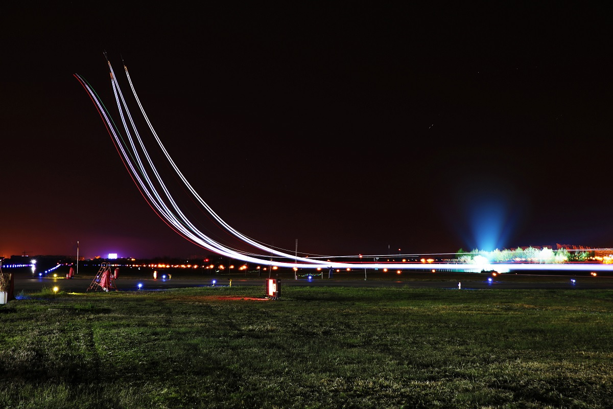 Here are some cool photos of PLAAF J-11 jet fighters conducting night flight training missions
