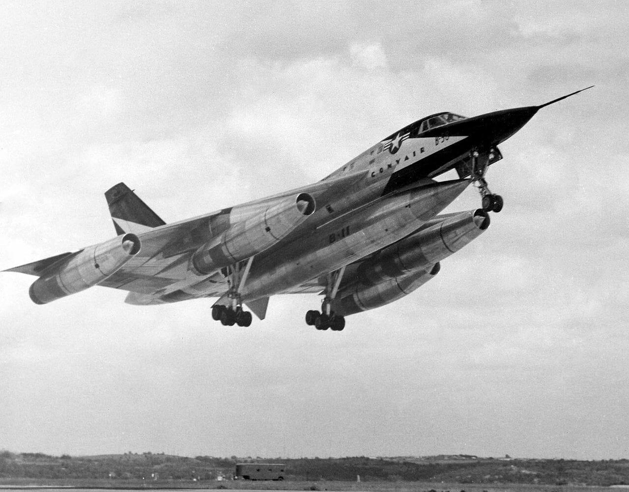 Convair Thought to Transform the B-58 into a Supersonic Airliner. And to Store 5 Passengers in Hustler's MB-1C Pod.