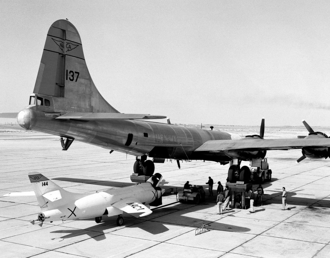 D-558-2 and B-29