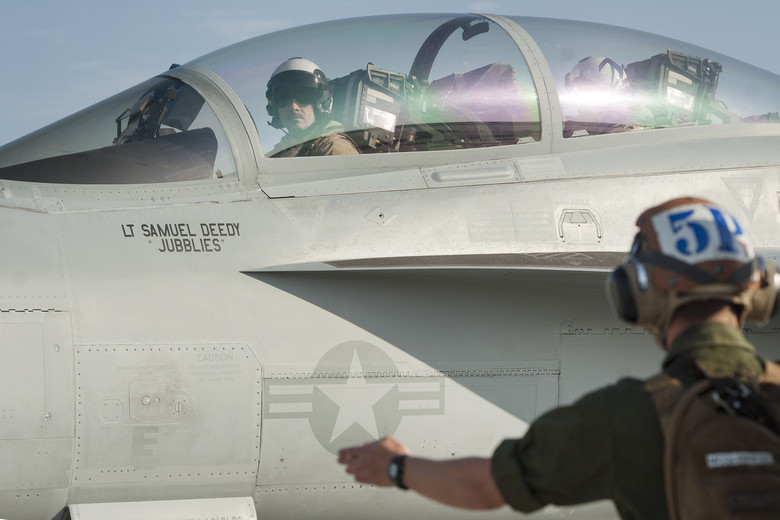 This Airman has been the First USAF Pilot to Fly U.S. Navy EA-18G Growler in Combat