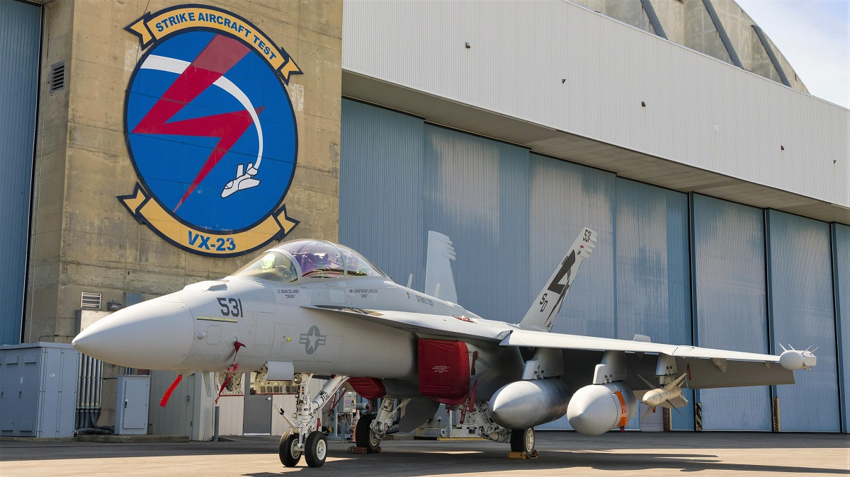 US Navy Hoists EA-18G Growler to complete Next Generation Jammer Mid-Band Electromagnetic Environmental Effects testing