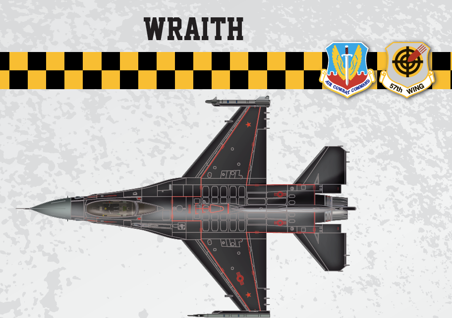 [Video] Just In Time For Halloween: 57th Wing at Nellis AFB Unveils New 'Wraith' Aggressor F-16