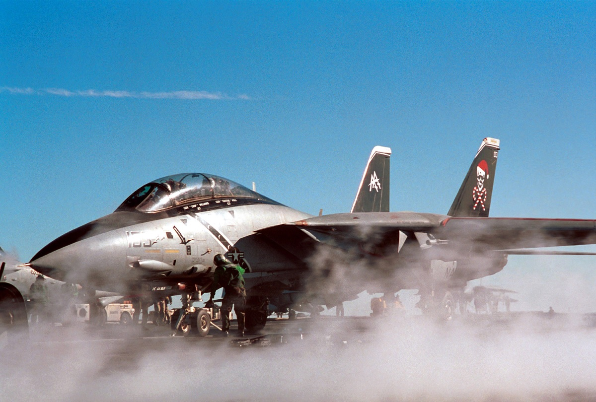 Santa Cats! The Christmas F-14B Tomcat Fighter Bombers of VF-103 Jolly Rogers
