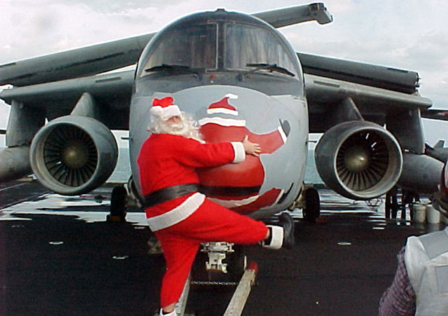 That Time Santa Claus Had a Close Encounter with a US Navy S-3 Viking