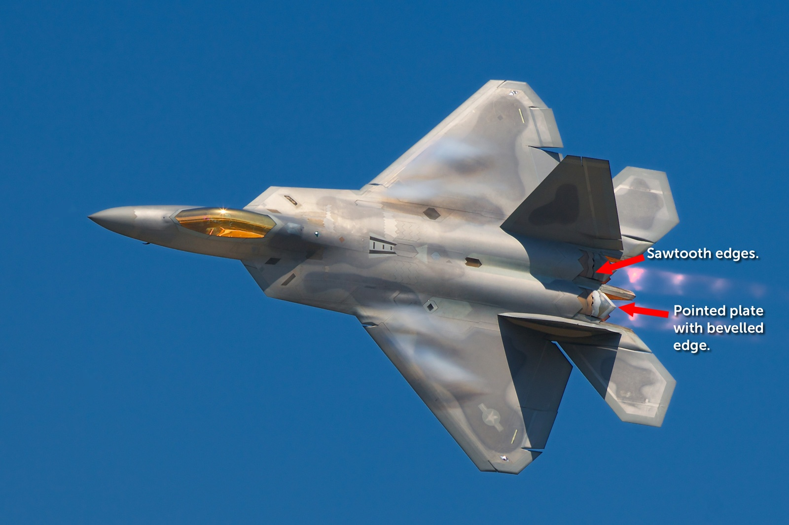 Here's why the F-22 Uses Square Exhaust Nozzles (and F-35, Su-57 and Chinese Stealth Fighters don't)