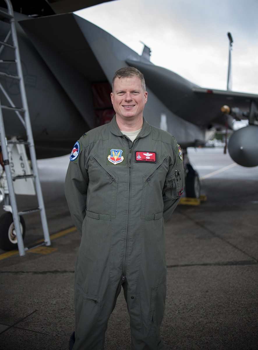 This F-15 Driver is the first fighter pilot in the world to return to flying a high-G fighter jet after disc-replacement surgery