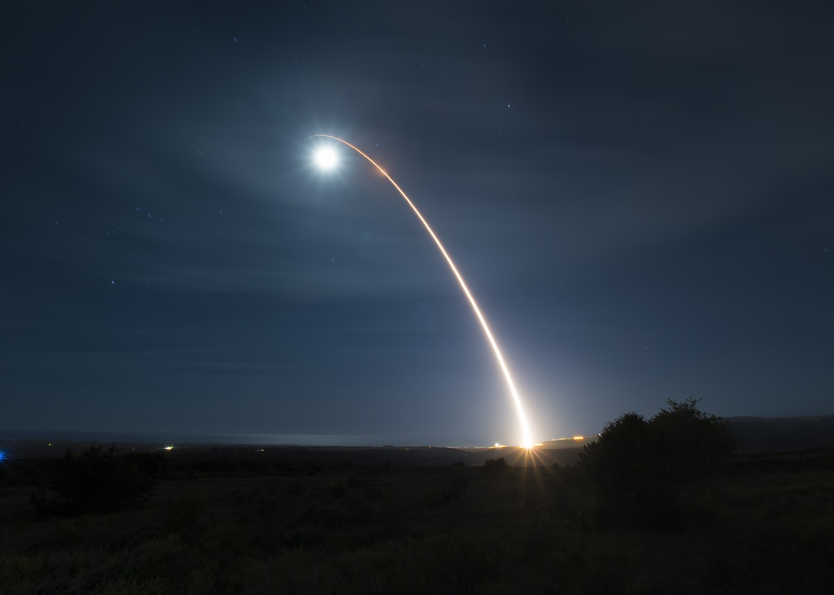 Simultaneous B-52 Mission to Indo-Pacific Theater and Unarmed Minuteman III developmental test launch demonstrate US Nuclear Forces Global Strike Capabilities
