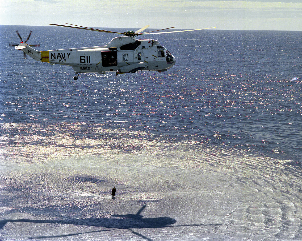 The Epic Story of the SH-3 helicopter that Flew to Haiphong harbor and saved a downed A-4 Pilot who was being fired at by North Vietnamese mortars while he was drifting in the South China Sea