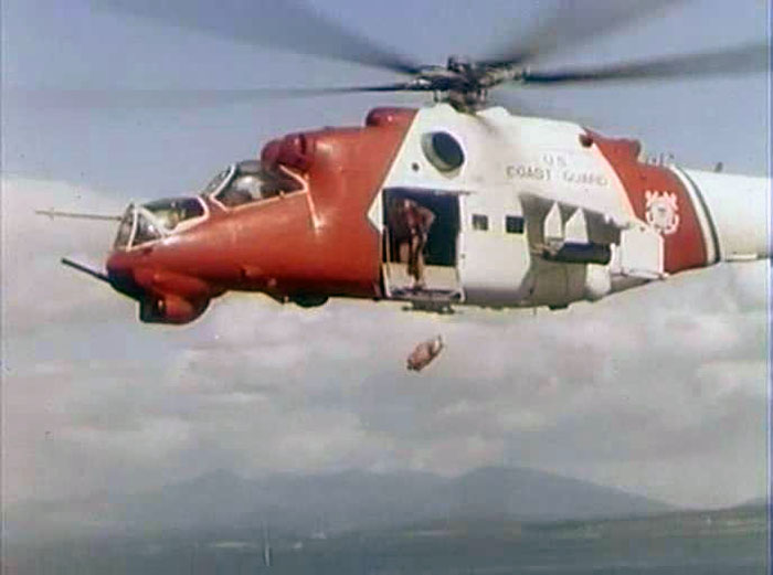 Here's why this Russian Mi-24 Hind Attack helicopter is painted in US Coast Guard colors