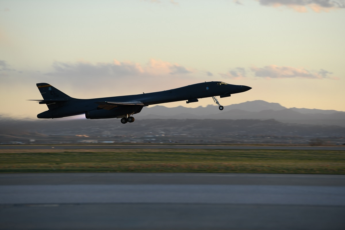 USAF B-1Bs flew from Ellsworth AFB to South China Sea in 32-hour round trip mission to demonstrate global presence