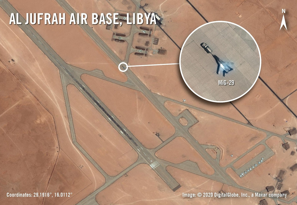 The MiG-29s deployed to al-Jufra Air Base may belong to Libyan National Army Air Force but it doesn't really matter: they are in Libya 'in the name of Russia'