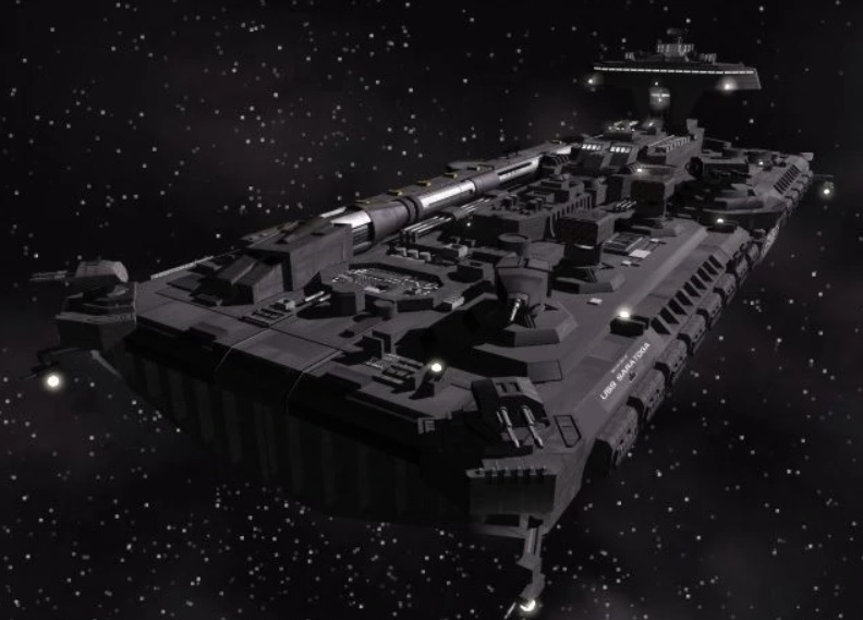 A quick look at SA-43 Hammerhead the fictional USMC Spaceship that caused a freak out to Russian Intelligence