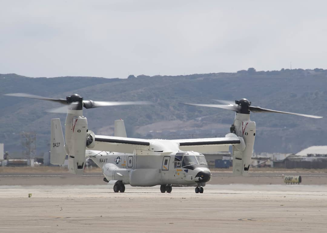 First CMV-22B Osprey for fleet operations delivered to the US Navy