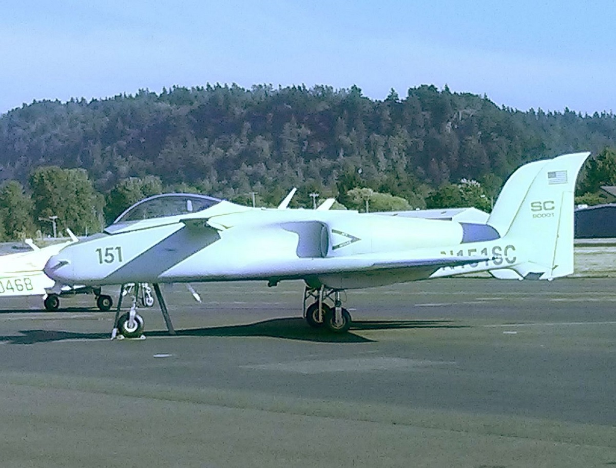 A quick look at Scaled Composites ARES, the mini A-10 that never was that played the part of the secret Me 263 jet in the movie Iron Eagle III