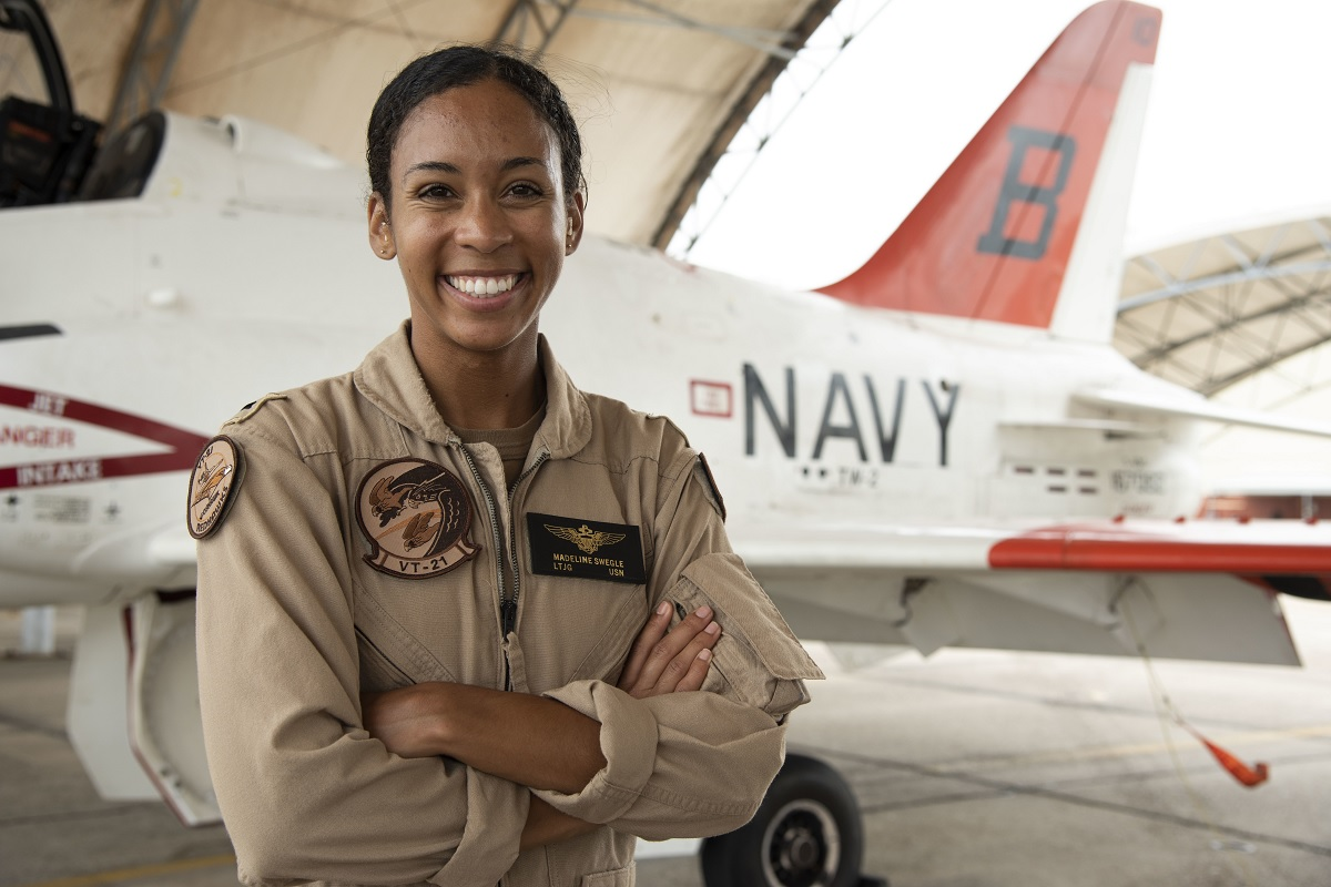 US Navy's First Black Female Tactical Air Pilot will be flying the EA-18G Growler