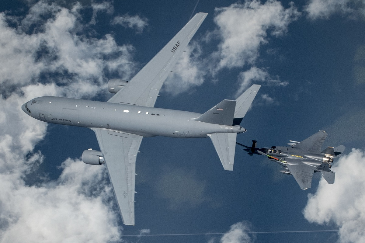 Cool photos show Seymour Johnson KC-46 Pegasus refueling local F-15E Strike Eagles for first time