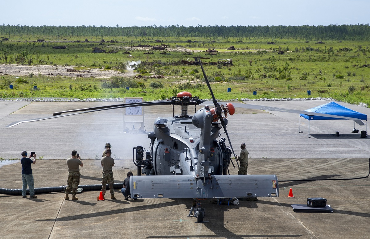 First Live Fire Testing for the HH-60W Jolly Green II CSAR Helicopter