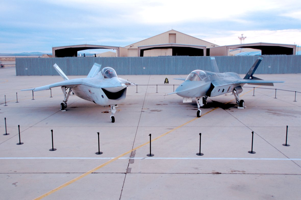 The Boeing X-32A in a storage building at the National Museum of the U.S. Air Force on Nov. 20, 2016.