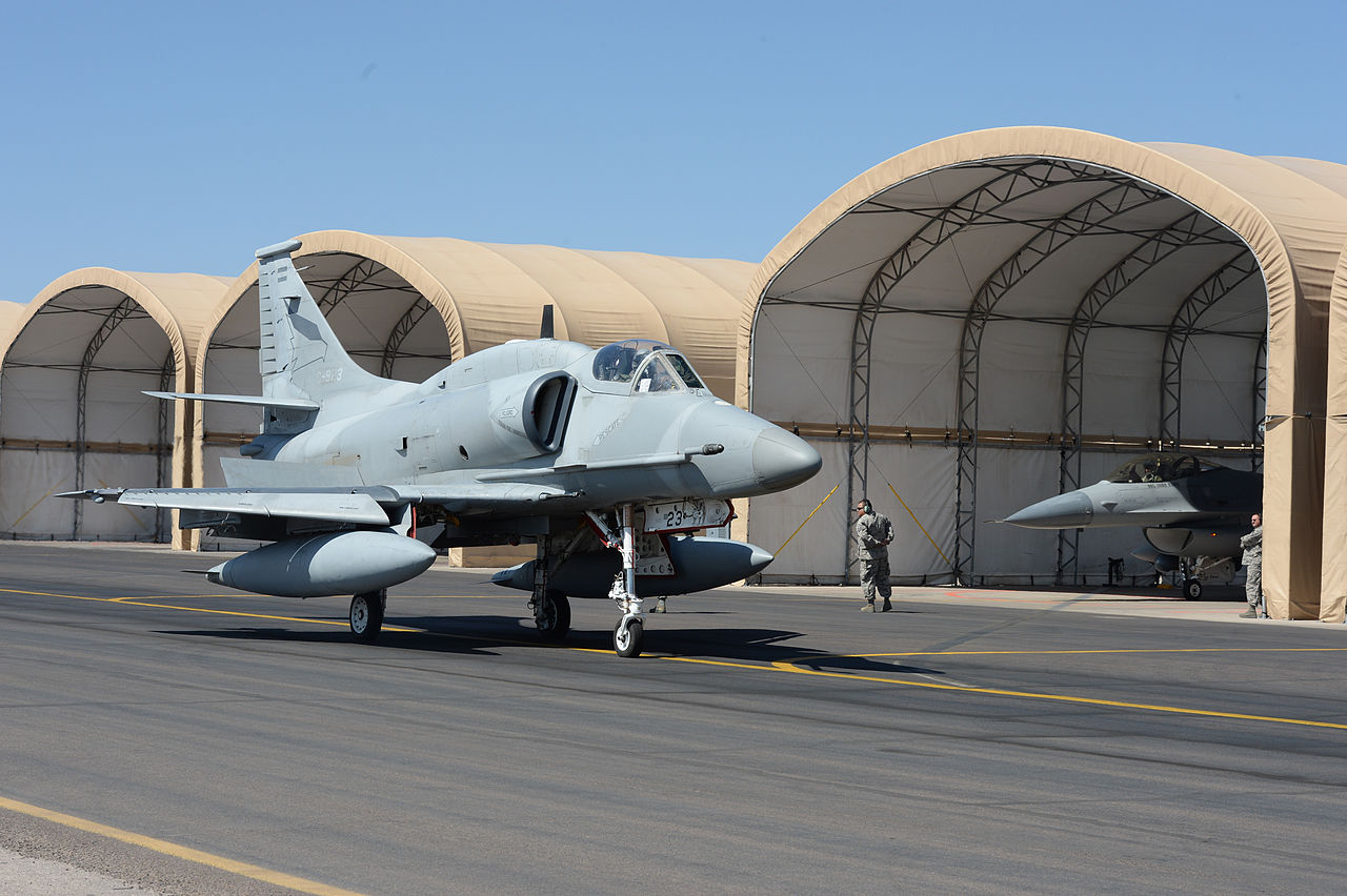 The Argentine Air Force wanted to replace its A-4 fleet with F/A-18s or F-16s instead had to buy 34 former USMC Skyhawks and upgrading them to the A-4AR standard