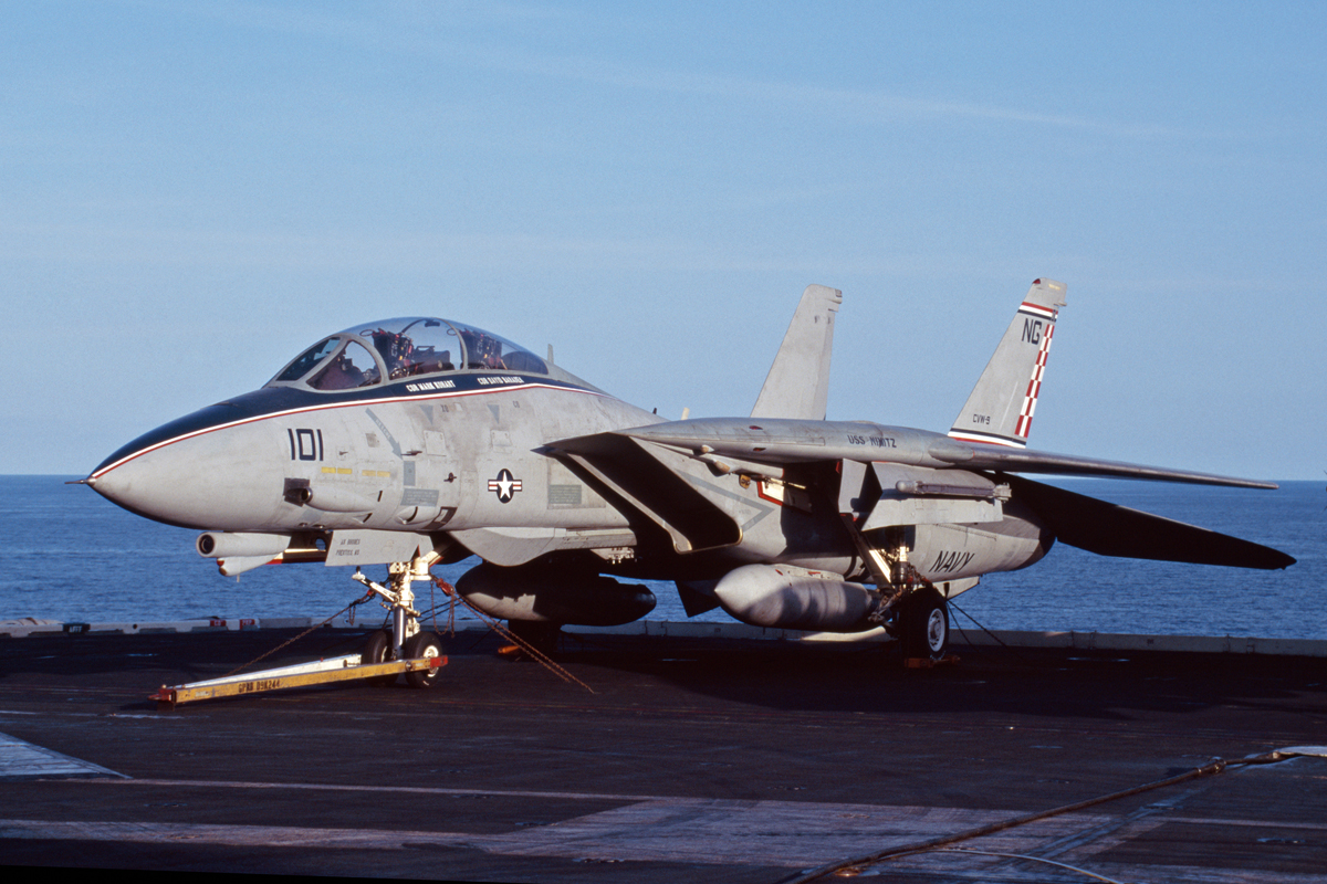 The Story Behind this F-14 Tomcat Squadron's Christmas-Theme Markings