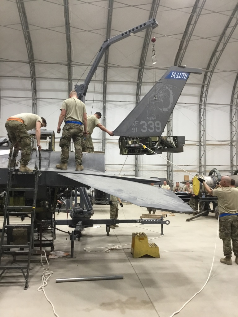 All ANG F-16s that sustained catastrophic damage by a windstorm during Operation Inherent Resolve returned to service