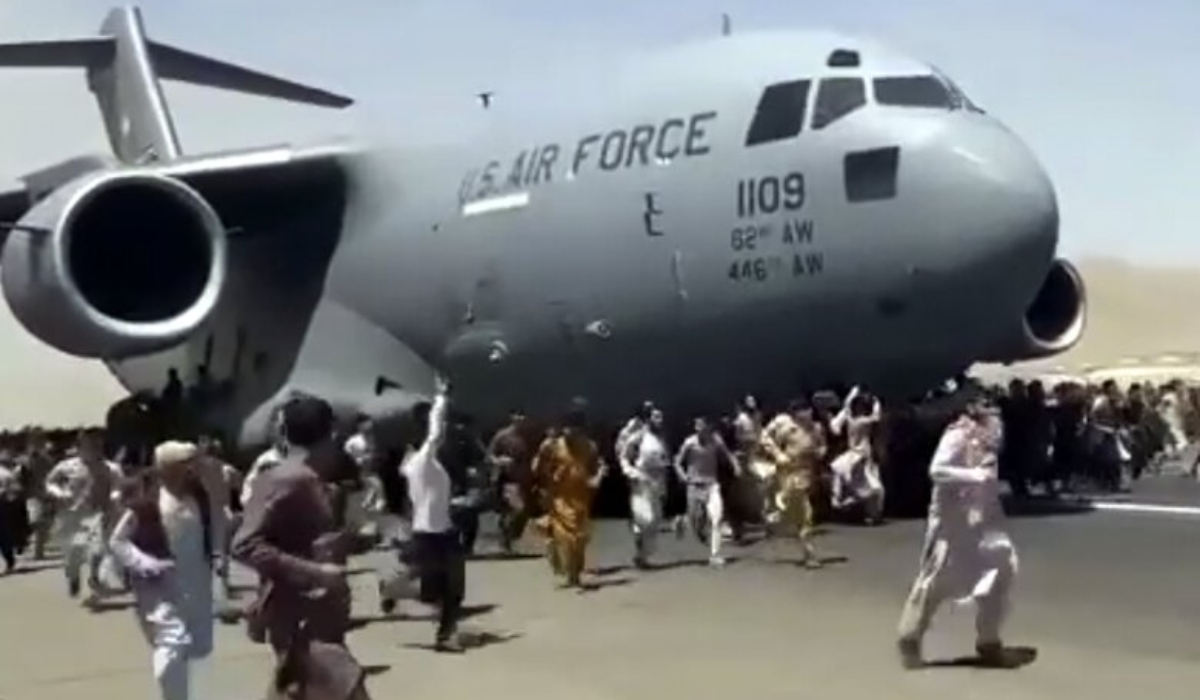 USAF investigating Afghan deaths, human remains discovered in wheel well of C-17 that took off from Kabul