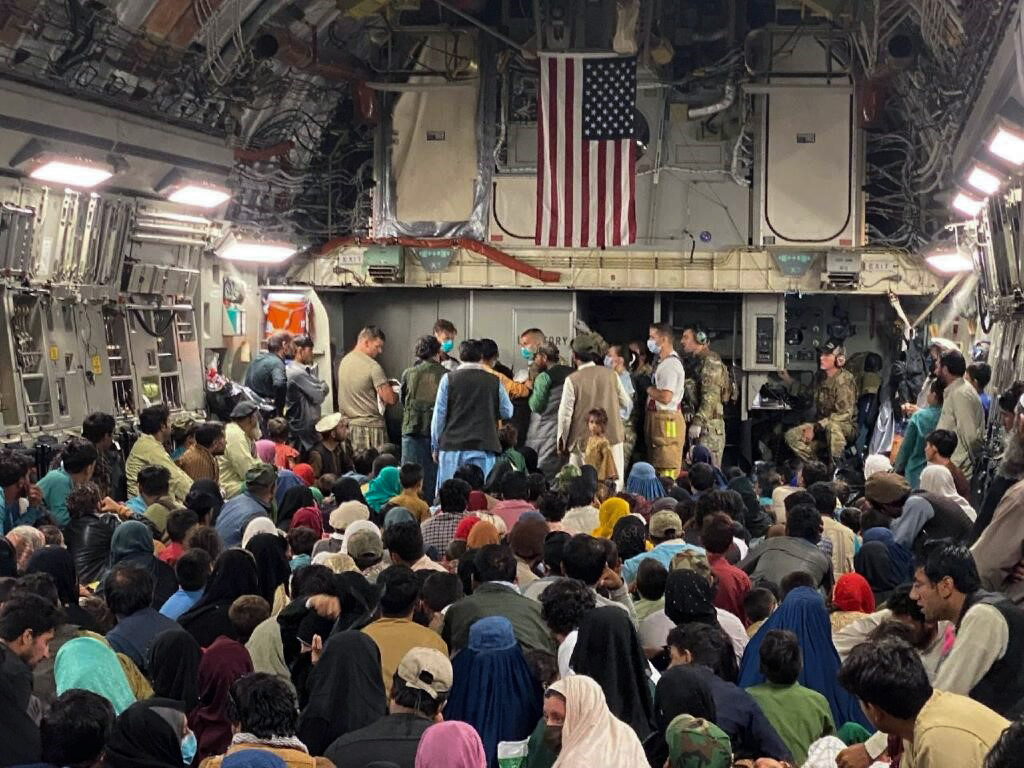 'We took off with 270 children, and we landed with 271.' C-17 crew helped to deliver a baby aboard a Globemaster III carrying Afghans evacuated from Kabul